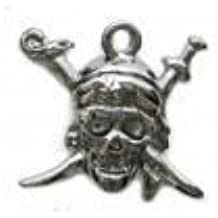 Charm Pirates Skull KN-L-8 Black Nickel