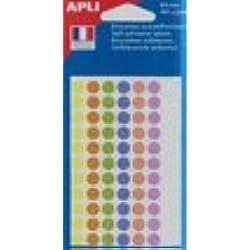 AGIPA Pochette 385 pastilles Ø 8 mm couleurs pastel assorties Ø 8 mm