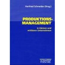 Produktionsmanagement in kleinen und mittleren Unternehmen