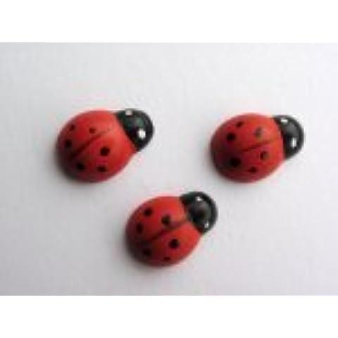Craft for Occasions C507 - Mini coccinelle decorative, confezione da 48