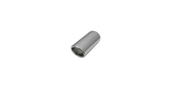 Vivol Auspuffblende Universal Edelstahl 63mm Anschluss 50 60mm Auto
