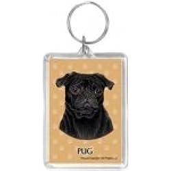 Llavero Pug Dog Black Gift