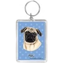 Llavero Pug Dog Fawn Gift