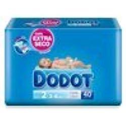 Pañales DODOT talla 2 40 unidades (3-6 KG)