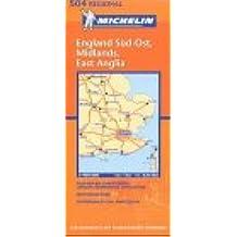 Englands Süd-Ost, Midlands, East Anglia (Michelin Regionalkarte)