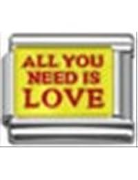 TODO lo que necesitas es amor encanto italiano 9 mm a classic pulsera de nombramientos
