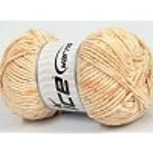 Ice Yarns Cotton Mosaic Light Orange Cream/100 G di 140 m/Original Turkey