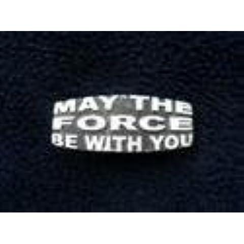 Star Wars MAY IL FORZA ESSERE WITH YOU - Distintivo Fatto A Mano In Solido Peltro nel Regno Unito