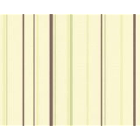 Esprit giallo modello carta da parati con verde e marrone Streigfen 549525 daniclean 5495-25