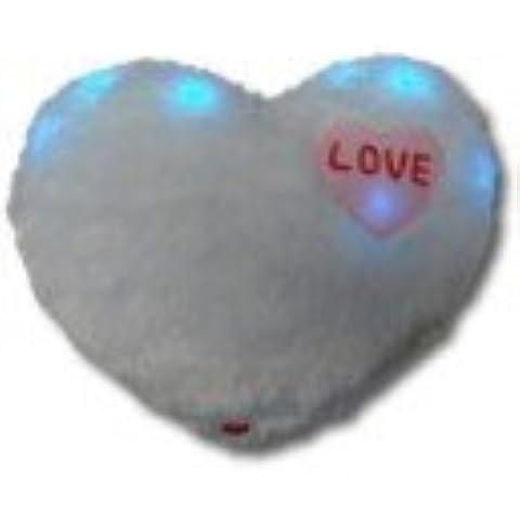 Illuminata Cuscino a forma di cuore, confezione da 2