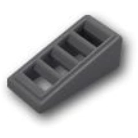 Lego blocco blocco parti pendenza 1 x 2 x 2/3 - grill: [scuro grigio bluastro / grigio scuro] [merci di importazione parallela]