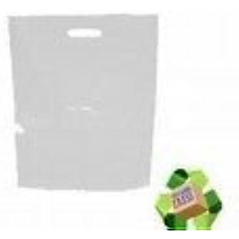 100 x - de madera de sacos para plástico con recubrimiento de goma blanca - 56 x 18 x 3 (pulgada)