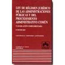 Ley regimen juridico de las administraciones publicas y del procedimie