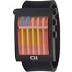 Thumbs Up! Red, Black Yellow LED & with Steel Case and Black BINGW102B1 Unisex Wrist Watch