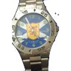Boxx Analogue Scotland, Scottish Lion Metal Bracelet Strap Mens Dress Watch
