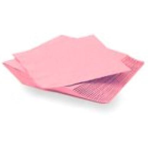 100 tovaglioli di carta, 33 cm, 2 Veli, colore: rosa