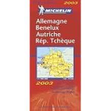 Carte routière : Allemagne - Autriche - Benelux - République Tchèque, N° 11719