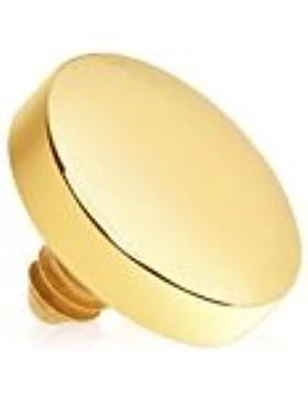 Piercing Boutique Runde Scheibe vergoldet Dermal-Anker Oberseite / Kopf 1,6mm (Dicke 14G) –4mm