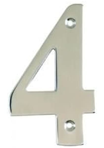 All Door Types Including uPVC in Polished Chrome Number 6 Silver House Door Numerals Numbers