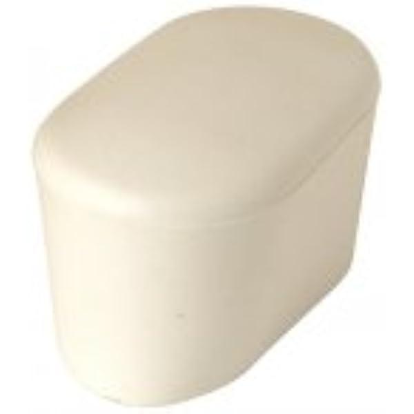 GleiGut 4 piedini ovali 30 x 15 mm, tappi per tubi bianchi
