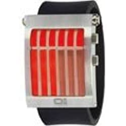 Thumbs Up! Red, Black Yellow LED & with Steel Case and Black BINGW102G3 Unisex Wrist Watch
