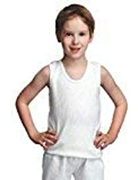 Bodycare Kids Thermal CutSleeve Top (Pack of 3, Off White Colour)
