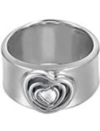 Esprit Damen-Ring 925 Sterling Silber rhodiniert Kristall Zirkonia love at heart weiß
