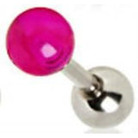 De color púrpura violeta (UV) de Blísteres de grado de Acero Quirúrgico del oído del pendiente del cartílago de la