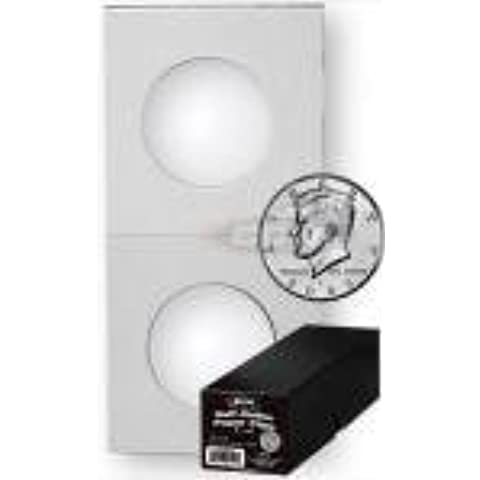 100 Paper Flips Half Dollar Coin Collecting Storage - Boxed by BCW