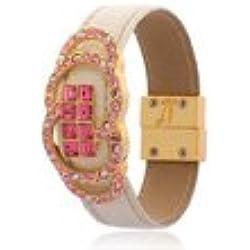 Cuff Bracelet, Swarovski Crystal Jewelry, Contemporary Jewellery, Watch Strap style Crystal Bracelet Strap, Janeo Bangles & Bracelets