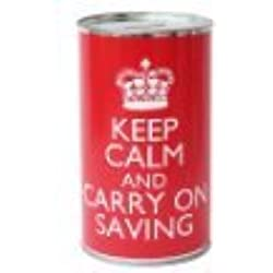 Lata de Ahorros - Keep Calm and Carry on Saving (Grande)