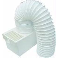 Tuyau d'aération de condensateur interne Qualtex - kit Compatible avec les sèche-linge Knight