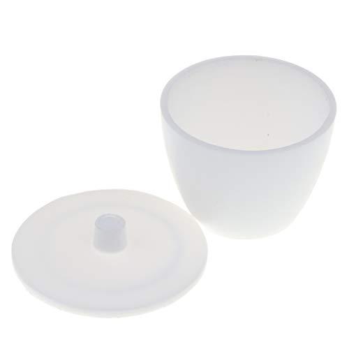 FLAMEER Schmelztiegel Porzellantiegel Labor Zubehör mit Deckel als Schule Lehrmittel - Weiß, 50 ml Kapazität