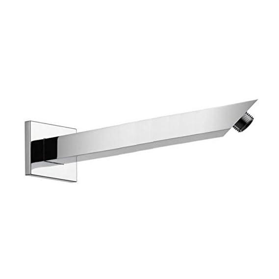 Drizzle 9 Inch Square Shower Arm/Bathroom Overhead Shower Arm/Rain Shower Rod