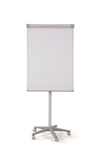 Bi-Office EA4806715 Flipchart Smart, Mobiles mit 5 Rollen, Magnetisch, Grau Aluminiumrahmen, 70 x 100 x 180 cm