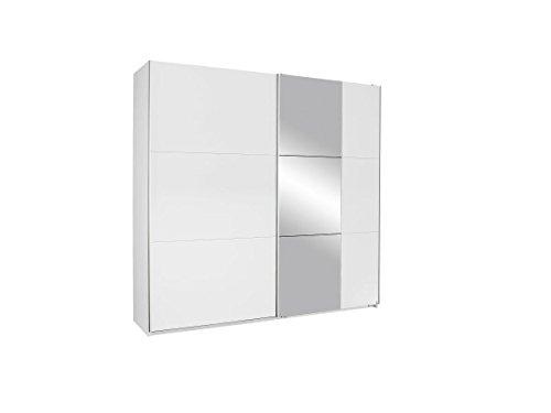 Rauch Schwebetürenschrank Weiß Alpin mit Spiegel 2-türig, BxHxT 218x210x59 cm