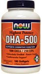 dha-500, doppia forza, 180 Softgels – Now Foods