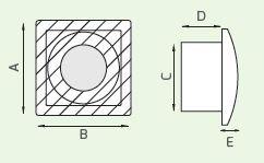 Ventilateur d'extraction axiaux mural Serie L 80mm LUX127