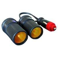 12V Car cigar lighter Dual Twin Socket Adaptor 200 mm