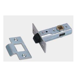 Union Locks 64mm Tubular Mortice Latch 2648 - Silver Enamel
