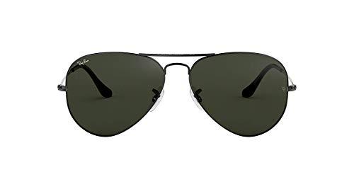 Ray-ban occhiali da sole unisex-adulto, argento (w0879 gunmetal), 58 mm