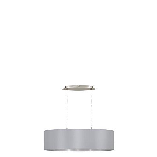 Eglo 31612–Lámpara de techo, metal, E27, Gris