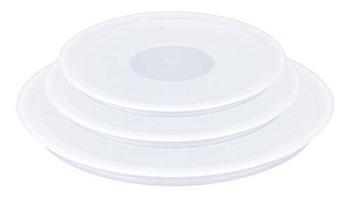 Tefal Ingenio Plastic Lids (Set of 3) - White