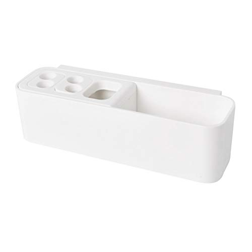 Yardwe supporto spazzolino elettrico da muro da bagno porta spazzolino a parete con ventosa in bianco
