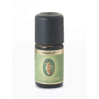 PRIMAVERA Ätherisches Öl Grapefruit bio 5 ml - Aromaöl, Duftöl, Aromatherapie - stimmungsaufhellend, aufmunternd, anregend - vegan