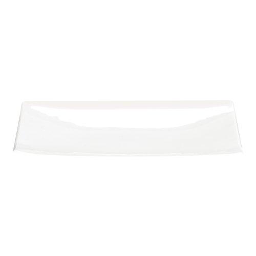 Assiette à dessert carrée blanche Fine bone china - A Table