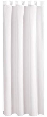 Bestlivings Blickdichte Weiße Gardine mit Schlaufen in 140x145 cm (BxL), in vielen Größen und Farben