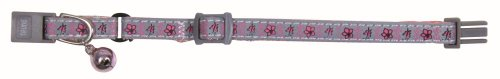 Trixie Kitten  Nylon Collar , Grau-rosa (reflective) (Kitten Grau)