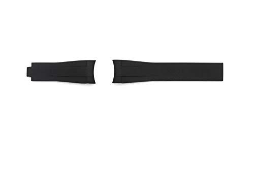 Cinturino silicone compatibile GMT/Daytona/Rolex/Oyster 20mm (Nero)