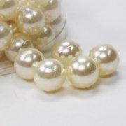Perlen in verschiedenen Farben Ø020mm 300g ca.72Stk Farbe champagner